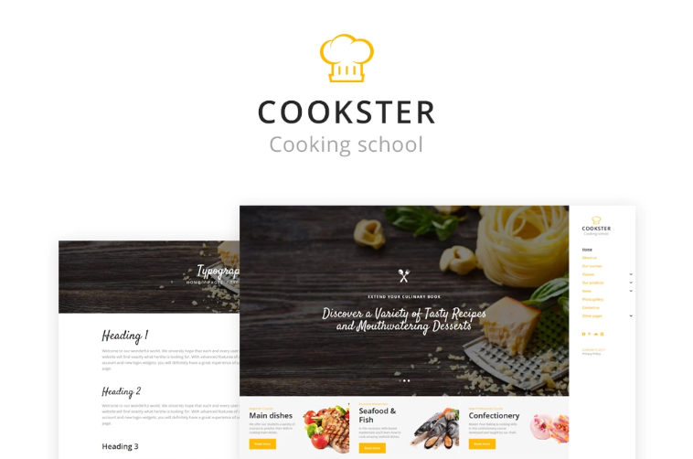 50 Top Templates for a Food Website
