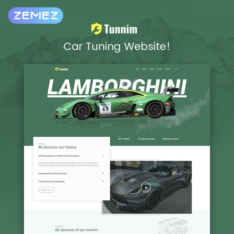Car Tuning Elementor WordPress Theme