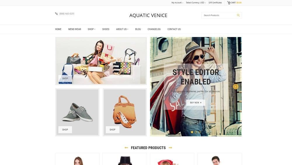 Aquatic Venice Multipurpose BigCommerce Theme