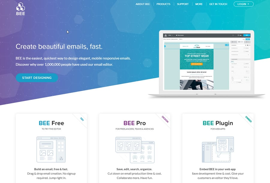 BEE: beautiful emails, fast.
