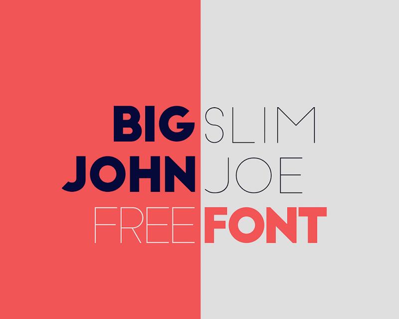 Big John / Slim Joe -Typeface