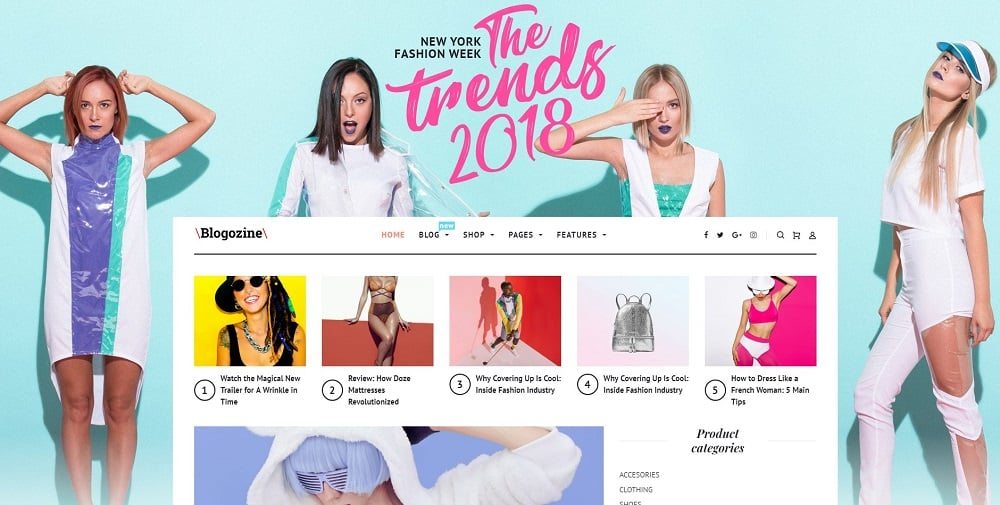 Blogozine - Fashion Elementor WordPress Theme