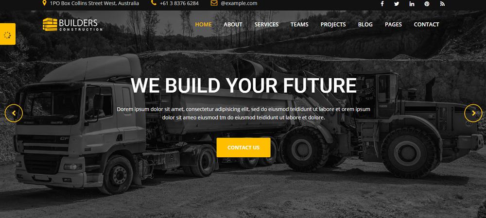 Builder - Construction Company HTML Website Template