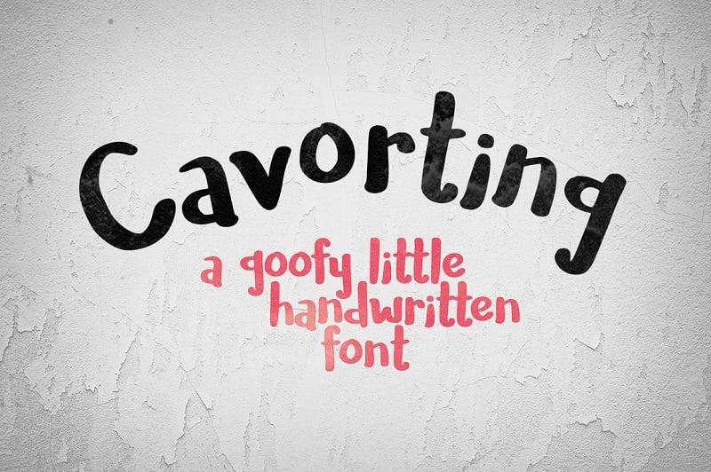 Cavorting - a goofy little handwriting font!