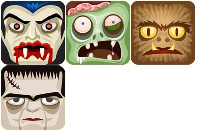 Classic Monsters Icons