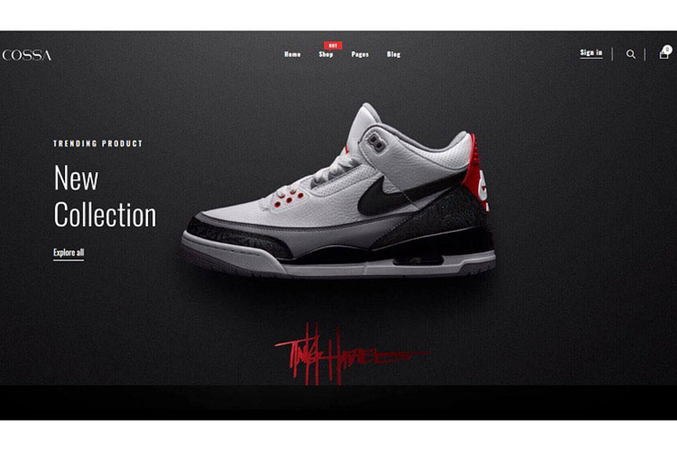 Cossa - Running Shoes, Sports Shoes & Clothes Shopify Theme.