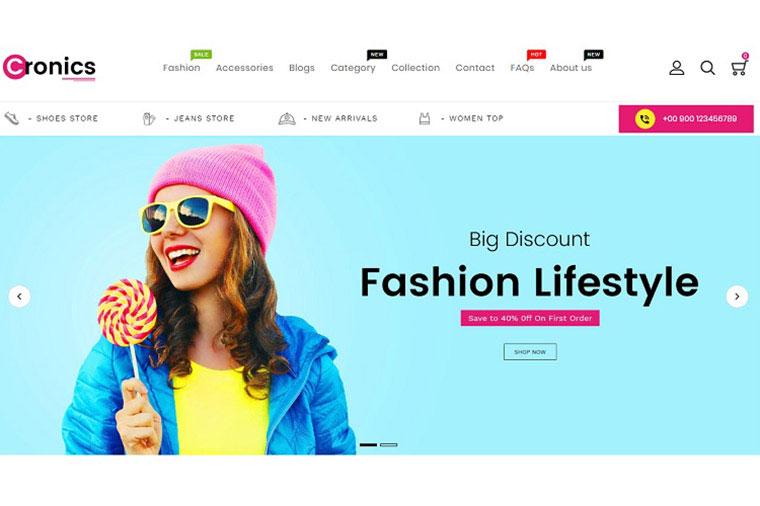 Cronics Fashion Responsive Shopify Theme.