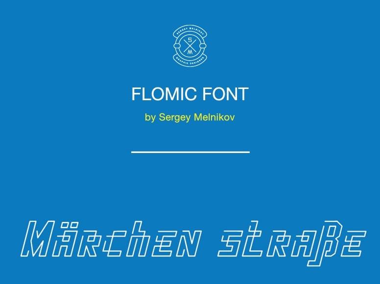 Flomic font