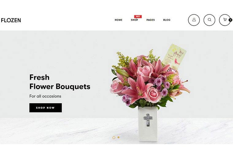 Flozen - MultiPurpose Flower Store Shopify Theme.