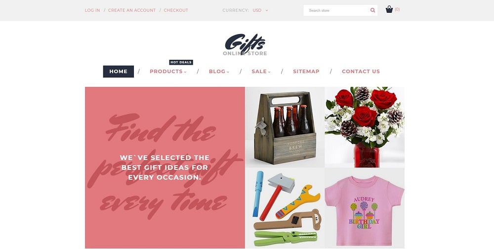 Gifts Online Store Shopify Theme