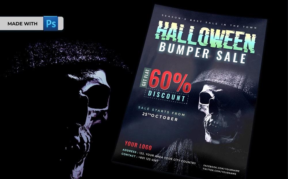 Halloween Bumper Sale Flyer Corporate Identity Template