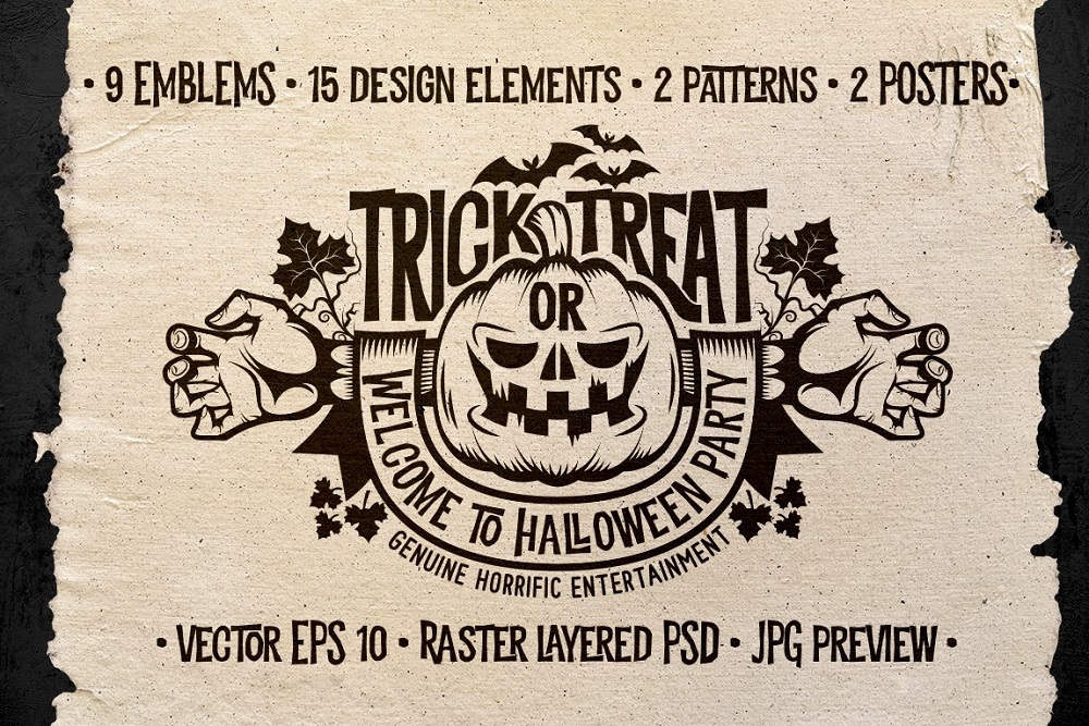 Halloween Logo Pack Illustration
