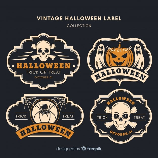 Halloween vintage badge collection