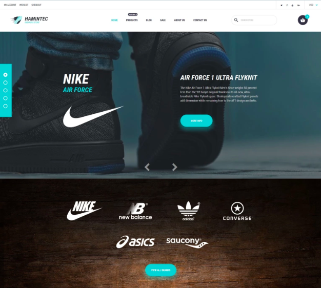 Hamintec - Luxury Quality Sneakers Store Shopify Theme