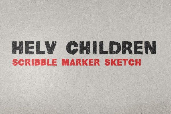Helv Children font