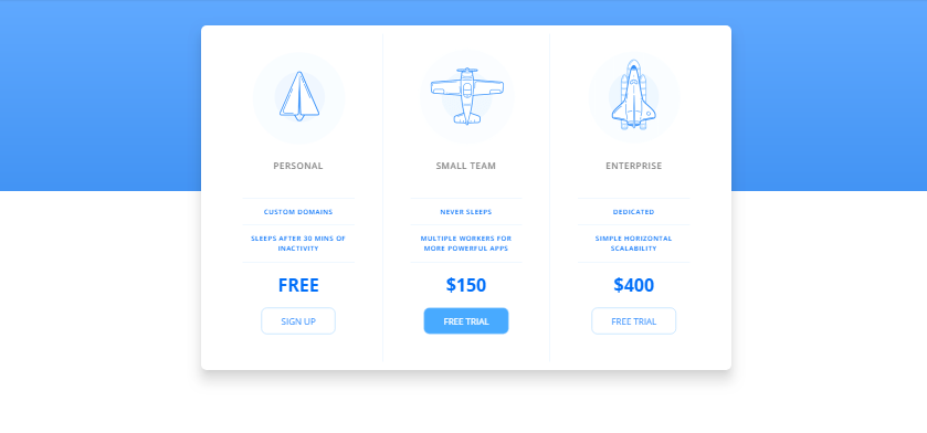 pricing table snippets