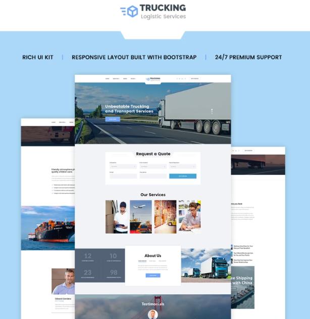 Top 50 Transportation Website HTML Templates