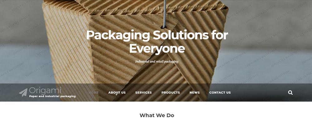 Industrial Packaging Website Template