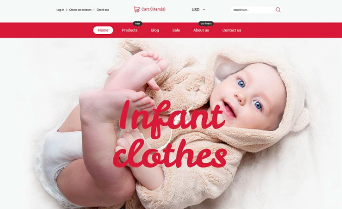 Infant Clothing Store Shopify Theme