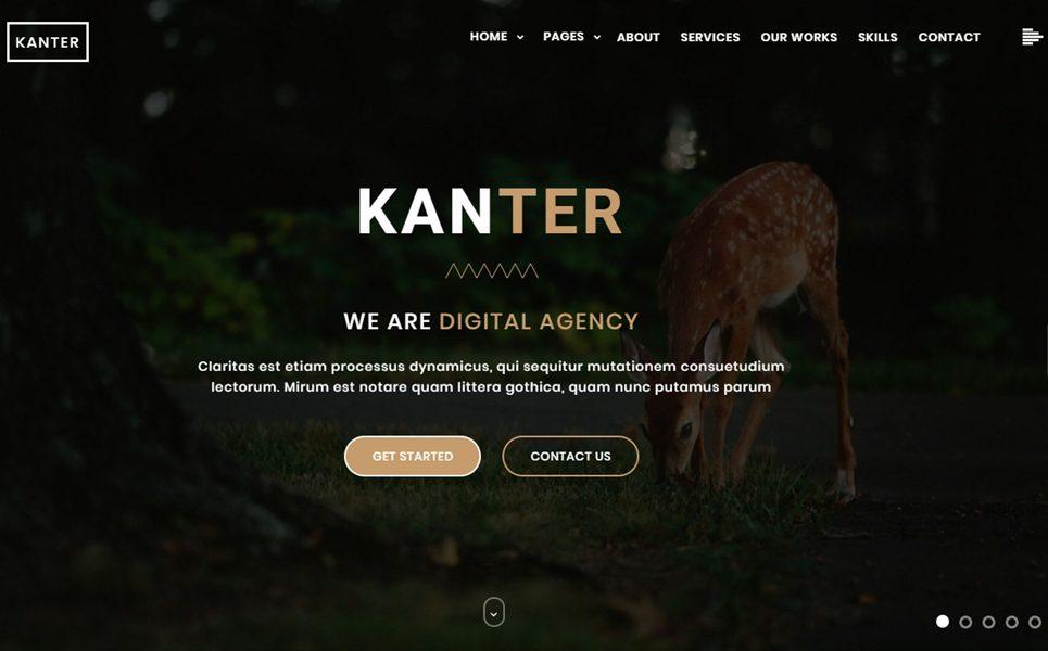 kanter-creative-responsive-minimalistic-html-website-template