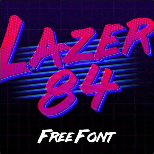 LAZER 84 - Free Font