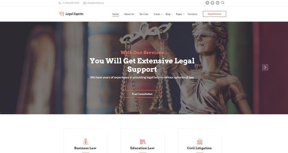 Traffic Ticket Attorney Website Template