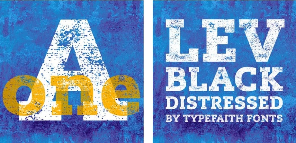 Typography Bundle: Lev Distressed Font