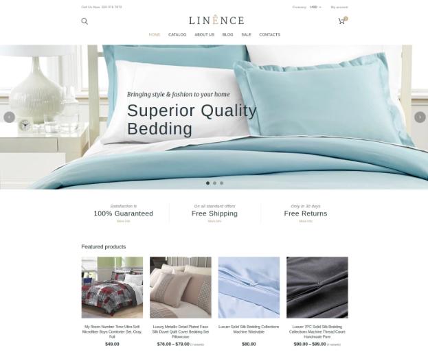 Linen & Lace Responsive Shopify Theme