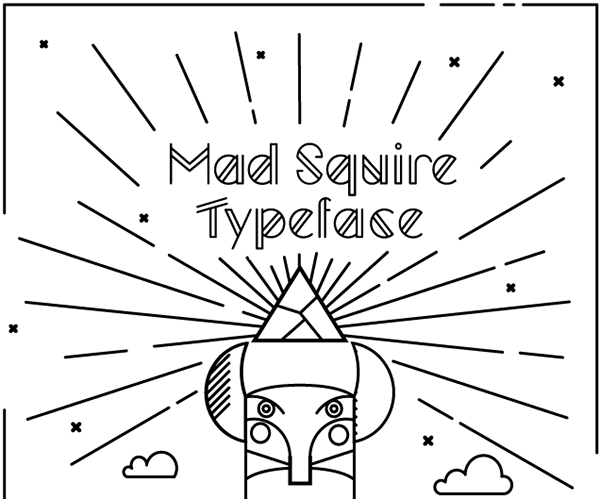 Mad Squire typeface / FREE FONT