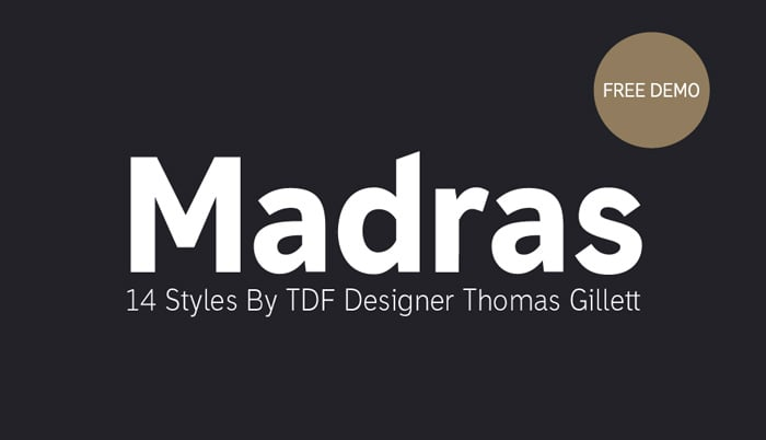 madras free font