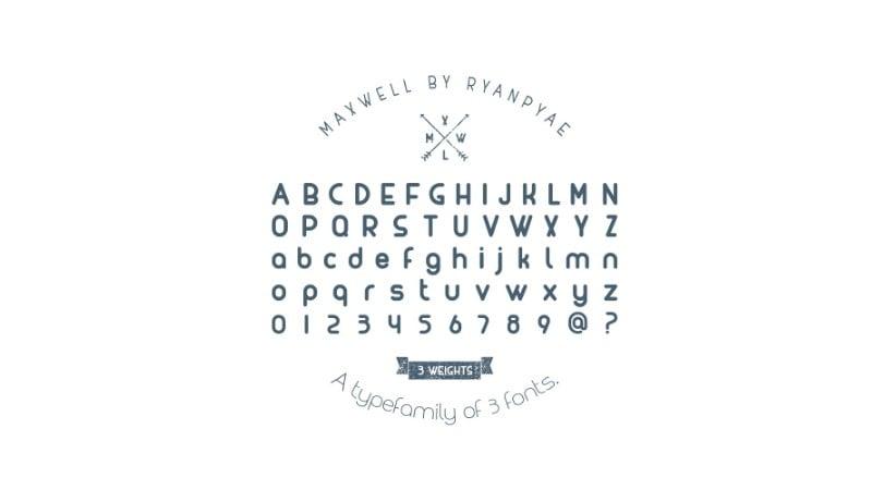 MAXWELL free typefamily
