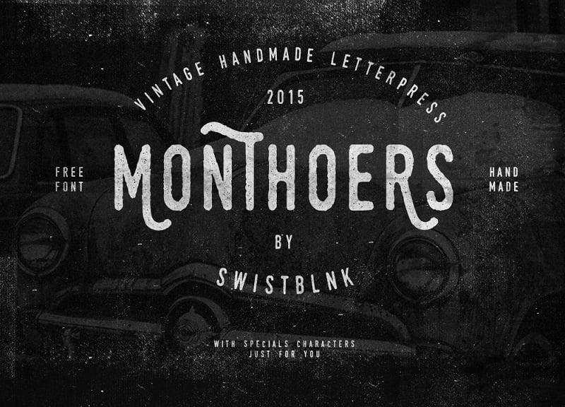 Monthoers Free Font