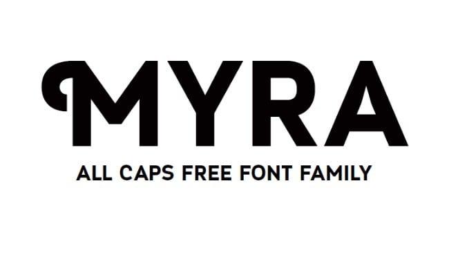 Myra Caps (Typeface)