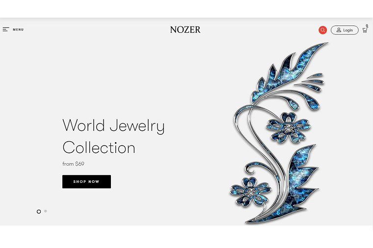 Nozer - Jewelry Store Shopify Theme.