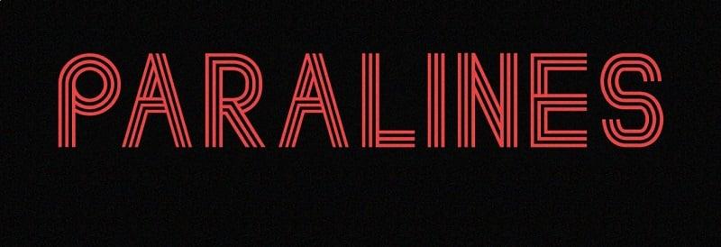 Paralines - Free Font