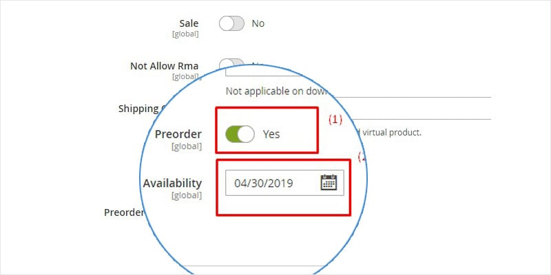 pre order product magento