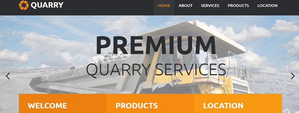 Quarry Website Template