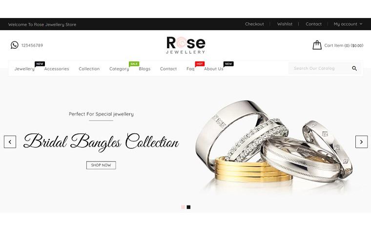 Rose - Jewellery Shopify Theme