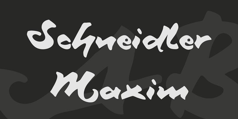 Schneidler Maxim Font