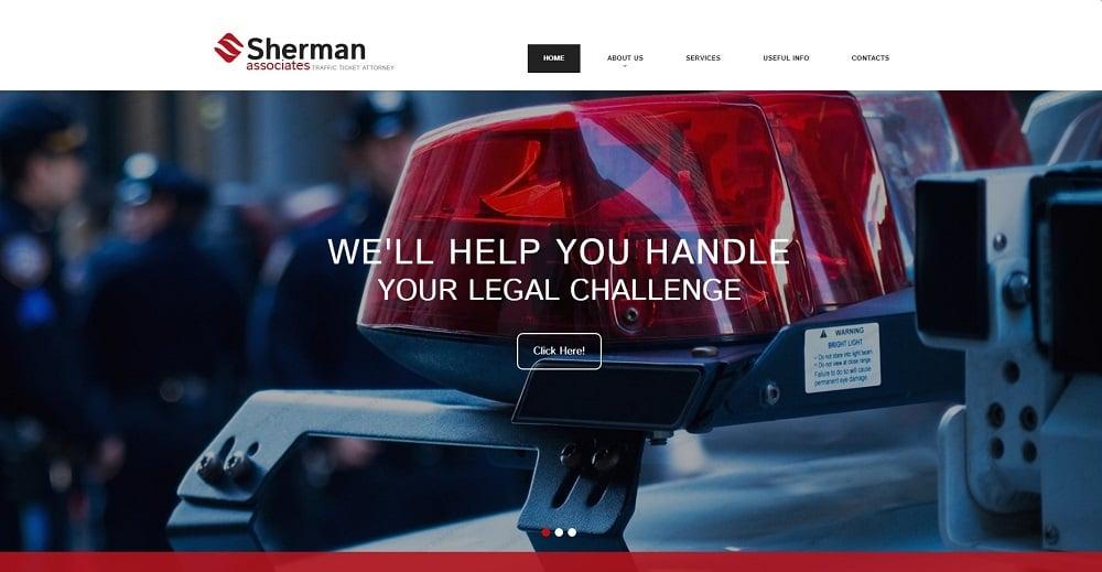 Lawyer Responsive Website Template