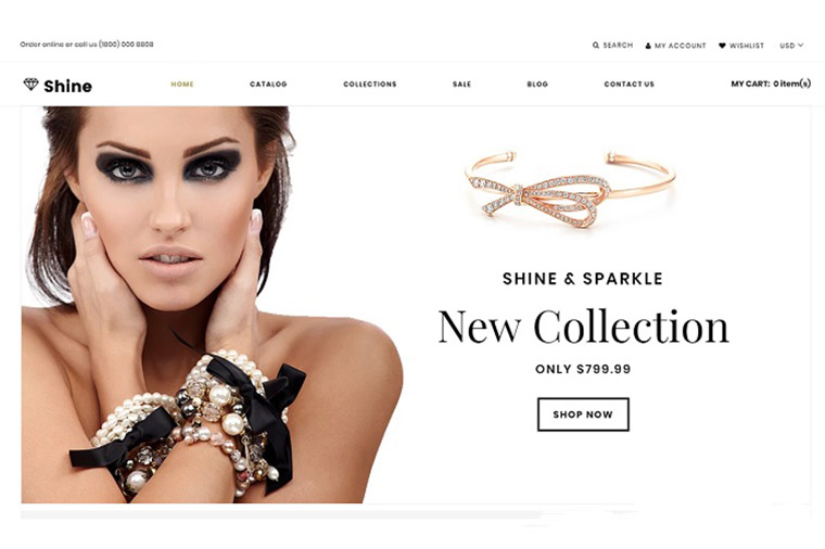 Shine & Sparkle - Jewelry Store Clean Shopify Theme