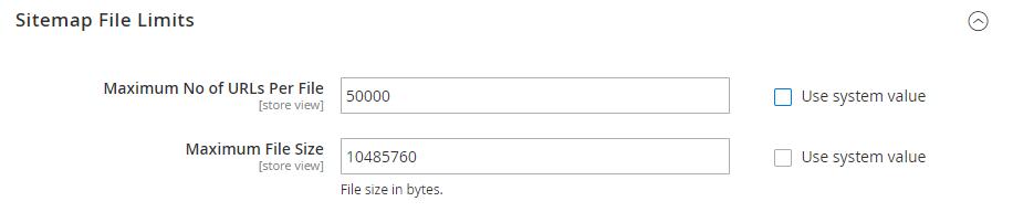 sitemap file limits