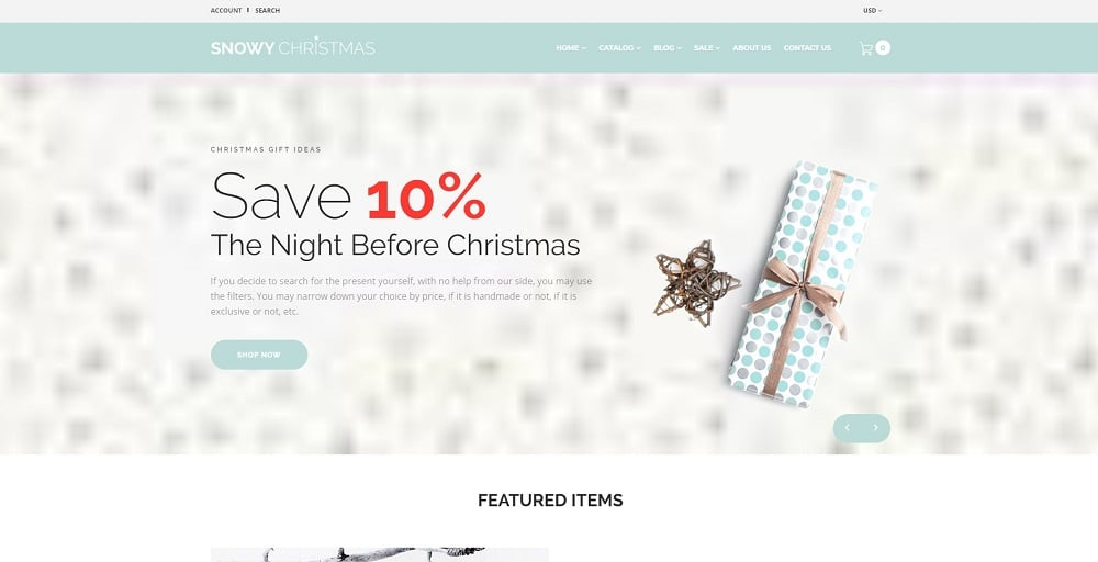 Snowy Christmas - Christmas Gifts Shopify Theme