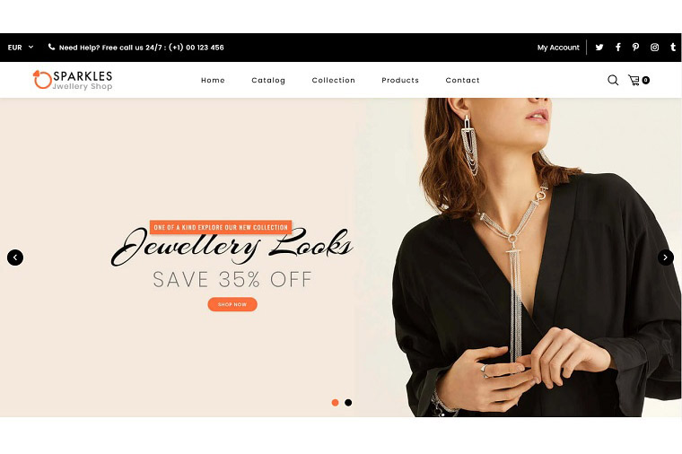 Sparkles - Jewelry Multipurpose Shopify Theme