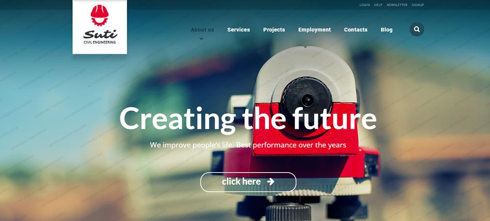 Civil Engineering Responsive Website Template