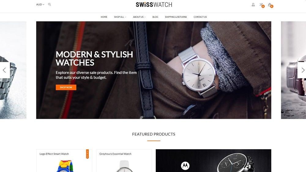Swiss Watch BigCommerce Theme