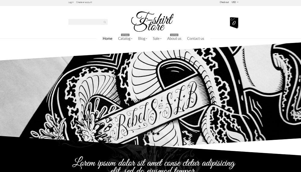 T-Shirt Designs Shopify Theme