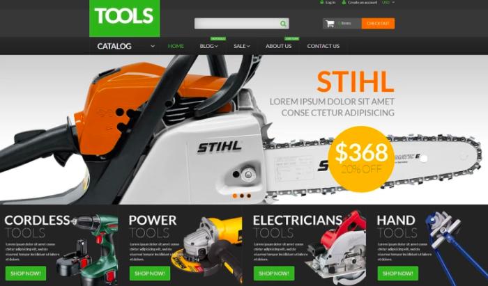 Tools Equipment Shopify Theme