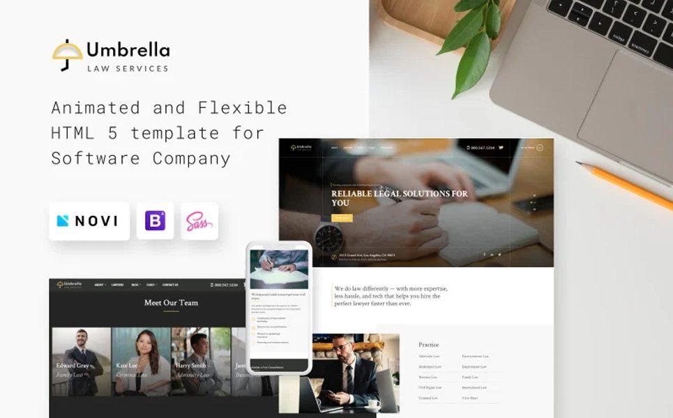 umbrella-law-consulting-website-template