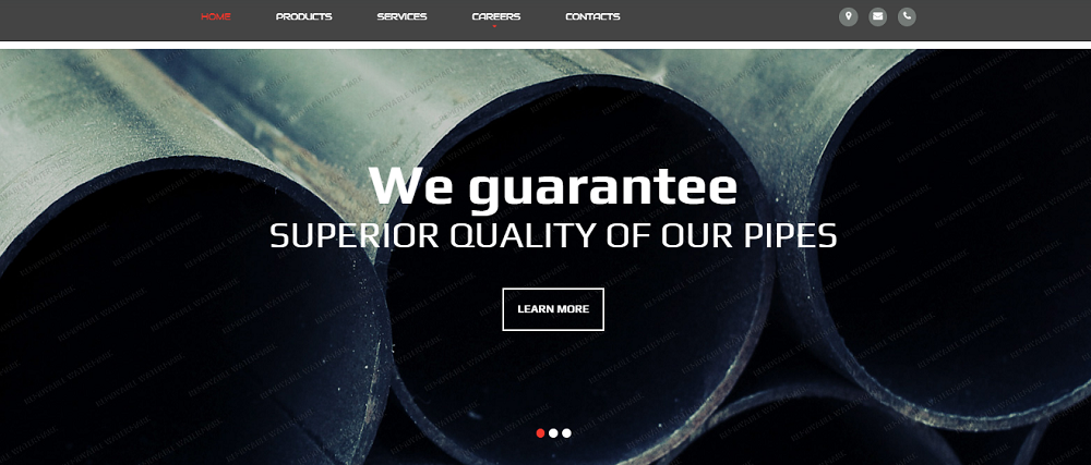 VX Pipe Website Template